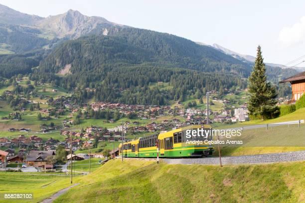 Wengernalpbahn train at Grindelwald