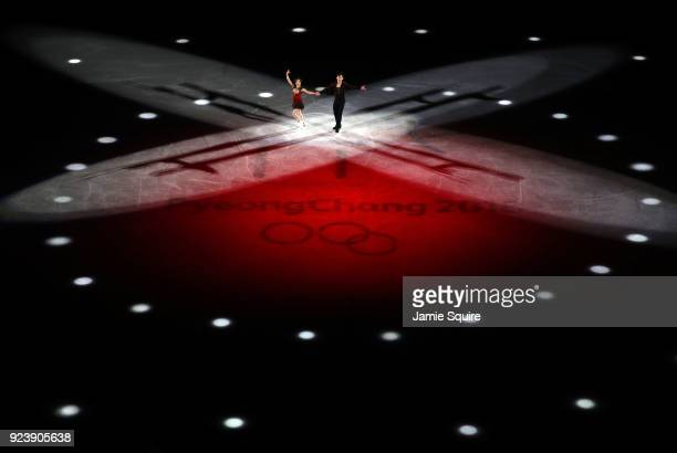 Wenjing Sui and Cong Han of Chia perform during the Figure Skating Gala Exhibition at Gangneung Ice Arena on February 25 2018 in Gangneung South Korea