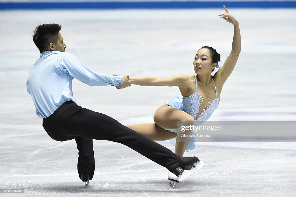Wenjing Sui and Cong Han of China compete in the Pairs free skating during the day three of the ISU World Team Trophy at Yoyogi National Gymnasium on April 18, 2015 in Tokyo, Japan.