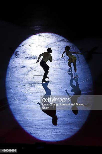 Wenjing Sui and Cong Han of China perform during the Exhibition Program on day three of Audi Cup of China ISU Grand Prix of Figure Skating 2015 at...