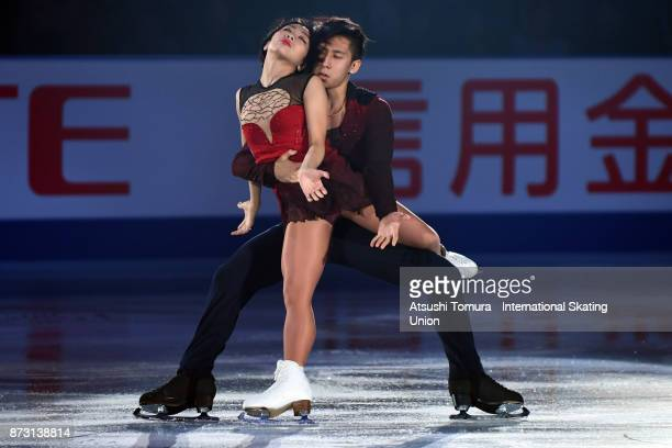 Wenjing Sui and Cong Han of China perform in the gala exhibition during the ISU Grand Prix of Figure Skating at Osaka municipal central gymnasium on...