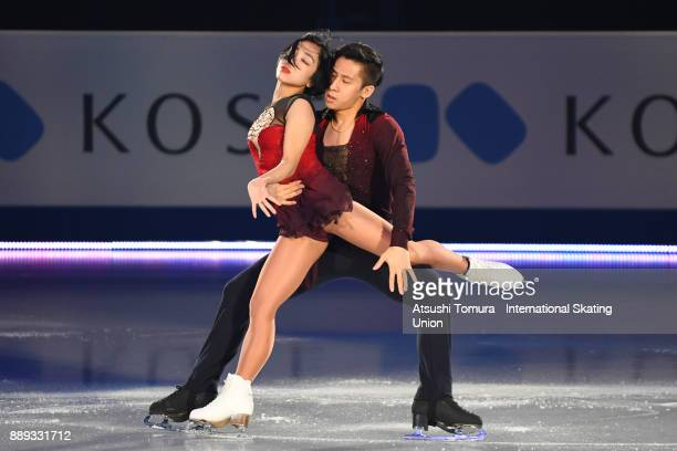Wenjing Sui and Cong Han of China perform their routine in the Gala exhibition during the ISU Junior Senior Grand Prix of Figure Skating Final at...