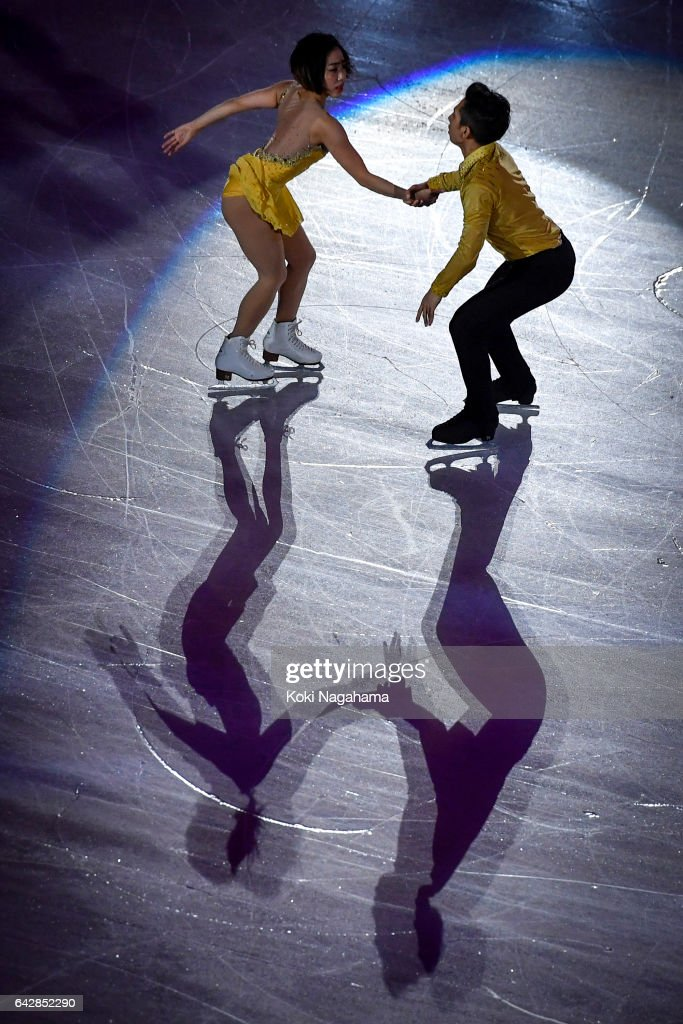 Wenjing Sui and Cong Han of China pserform in the Exhibition program during ISU Four Continents Figure Skating Championships - Gangneung -Test Event For PyeongChang 2018 at Gangneung Ice Arena on February 19, 2017 in Gangneung, South Korea.