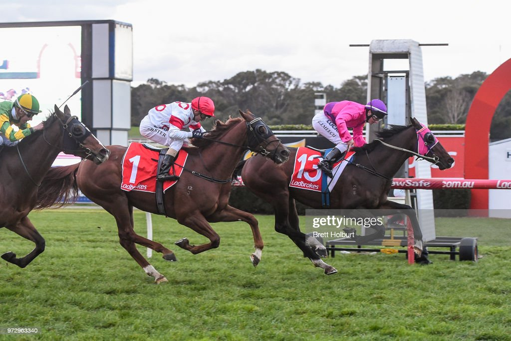 Wenner ridden by Linda Meech wins the Ladbrokes Protest Payout Handicap at Ladbrokes Park Hillside Racecourse on June 13, 2018 in Springvale, Australia.