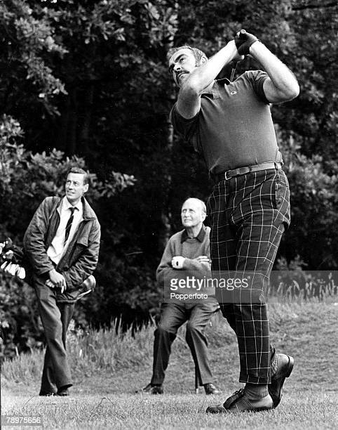 Wentworth, Surrey, England, 20th June Film actor Sean Connery, star of the James Bond films, playing golf at Wentworth in the Variety Club of Great...