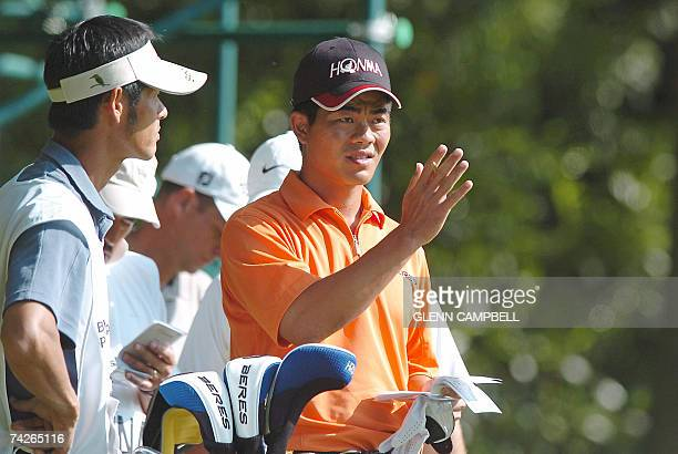 Golfer Wenchong Liang of China plays in the first round of the BMW PGA Championship at the Wentworth Golf Club in Surrey in southeast England 24 May...