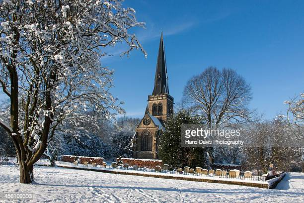 Wentworth Village Church in the snow 2
