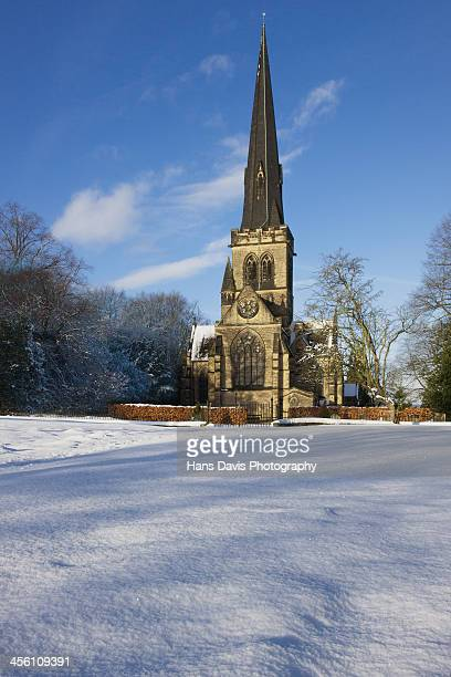 Wentworth Village Church in the snow 3
