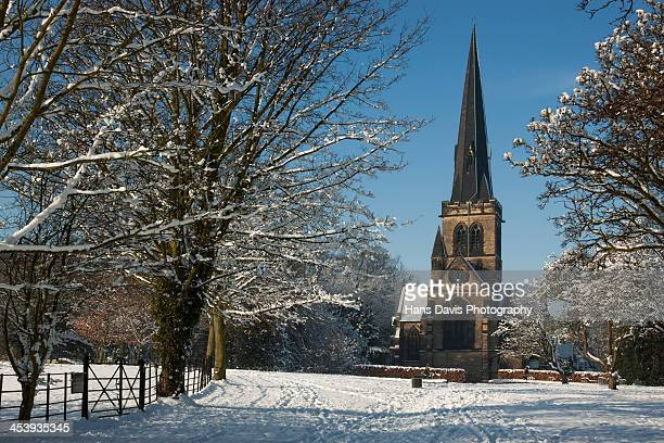 Wentworth Village Church in the snow