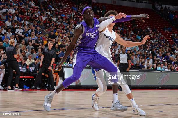 Wenyen Gabriel of the Sacramento Kings fights for position against the Dallas Mavericks on July 8 2019 at the Thomas Mack Center in Las Vegas Nevada...