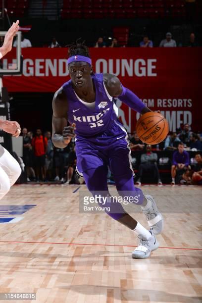 Wenyen Gabriel of the Sacramento Kings handles the ball against the Dallas Mavericks on July 8 2019 at the Thomas Mack Center in Las Vegas Nevada...