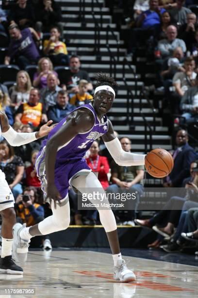 Wenyen Gabriel of the Sacramento Kings handles the ball against the Utah Jazz on October 14 2019 at vivintSmartHome Arena in Salt Lake City Utah NOTE...