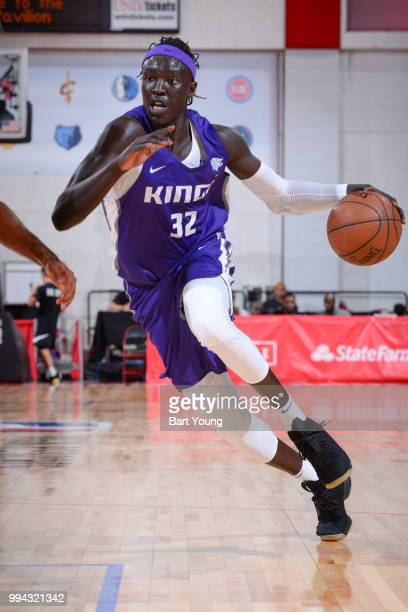 Wenyen Gabriel of the Sacramento Kings handles the ball against the LA Clippers during the 2018 Las Vegas Summer League on July 8 2018 at the Cox...