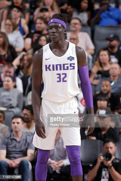Wenyen Gabriel of the Sacramento Kings looks on during the game against the Golden State Warriors on July 1 2019 at the Golden 1 Center in Phoenix...