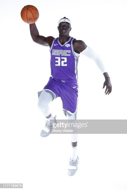 Wenyen Gabriel of the Sacramento Kings poses for a portrait during media day on September 27 2019 at the Golden 1 Center Practice Facility in...