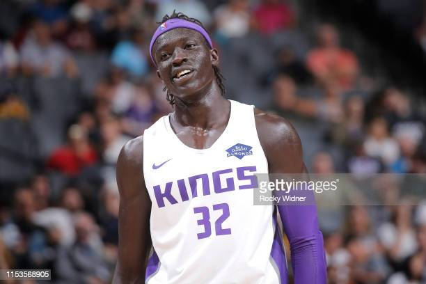 Wenyen Gabriel of the Sacramento Kings reacts during the game against the Los Angeles Lakers during Day 3 of the 2019 California Classic on July 3...