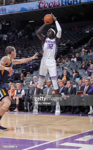 Wenyen Gabriel of the Sacramento Kings shoots against the Utah Jazz on October 11 2018 at Golden 1 Center in Sacramento California NOTE TO USER User...