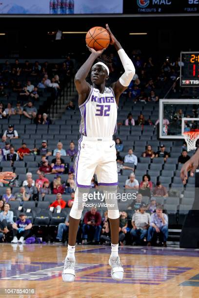 Wenyen Gabriel of the Sacramento Kings shoots the ball against the Maccabi Haifa during a preseason game on October 8 2018 at Golden 1 Center in...