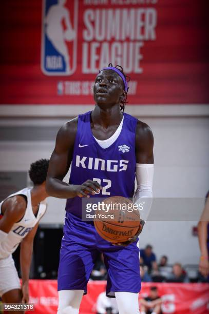 Wenyen Gabriel of the Sacramento Kings shoots the ball against the LA Clippers during the 2018 Las Vegas Summer League on July 8 2018 at the Cox...