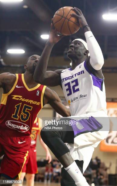Wenyen Gabriel of the Stockton Kings handles the ball against the Canton Charge during the NBA G League Winter Showcase at Mandalay Bay Events Center...