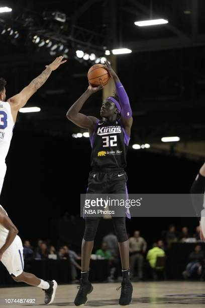 Wenyen Gabriel of the Stockton Kings shoots the ball against the Delaware Blue Coats during the NBA G League Winter Showcase on December 20 2018 at...