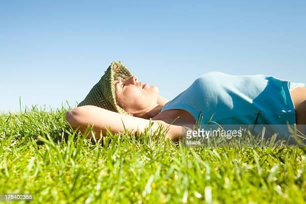 WEoman 休息の芝生
