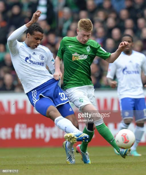 FUSSBALL 1 BUNDESLIGA SAISON SV Werder Bremen FC Schalke 04 Joel Matip gegen Kevin De Bruyne
