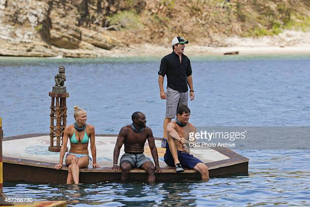 We're A Hot Mess Kelley Wentworth Jeremy Collins Jon Misch and Jeff Probst during the fourth episode of Survivor 29 Wednesday Oct 15 on the CBS...