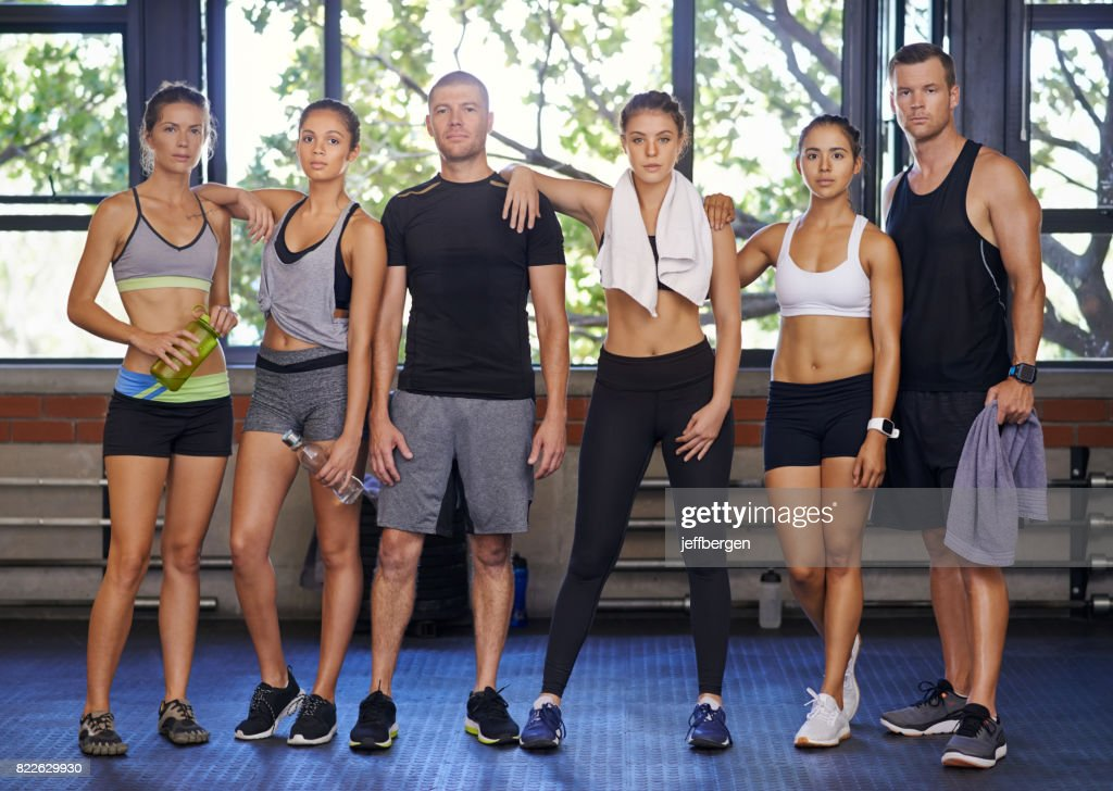We're all about fitness : Stock Photo