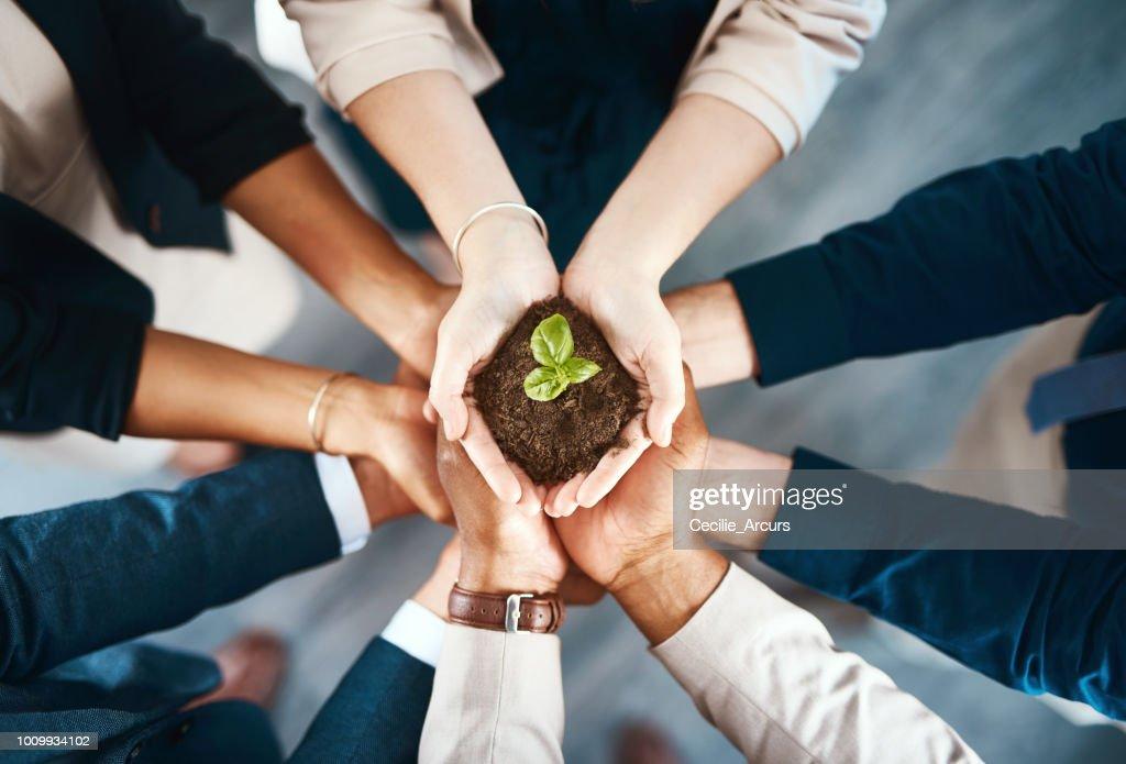 Somos responsables de crear un mejor mañana : Foto de stock