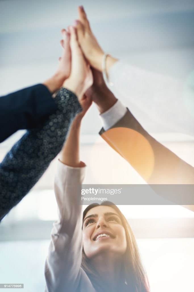 We're all team players : Stock Photo