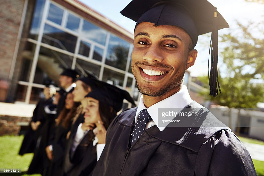 We're educated and ready to go! : Stock Photo