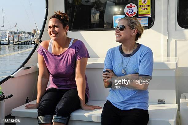 """We're Gonna Need a Bigger Boat"""" Episode 806 -- Pictured: Contestants Antonia Lofaso, Jamie Lauren"""