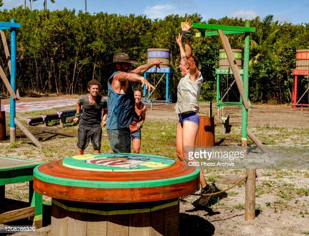 We're in the Majors Adam Klein Ben Driebergen Sarah Lacina and Sophie Clarke on the Seventh episode of SURVIVOR WINNERS AT WAR airing Wednesday March...