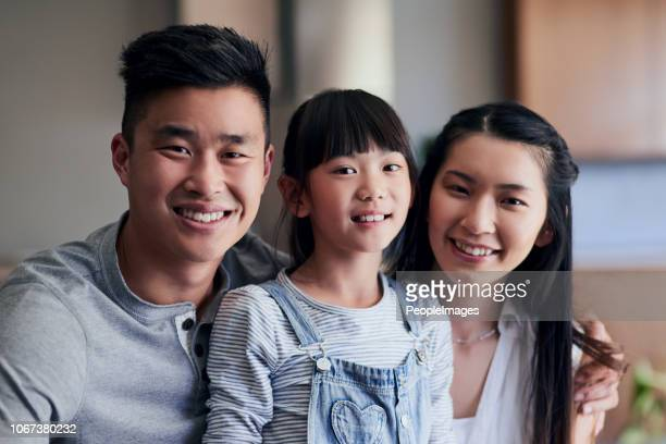 we're just a happy family - korean ethnicity stock pictures, royalty-free photos & images