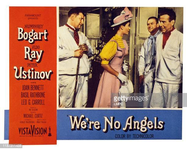 We're No Angels US lobbycard from left Peter Ustinov Gloria Talbot Aldo Ray Humphrey Bogart 1955