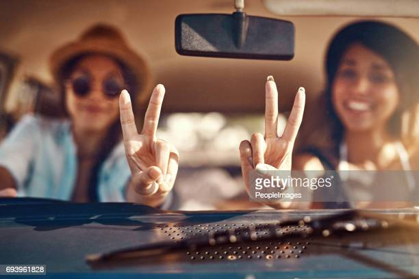we're off to find fun - peace symbol stock photos and pictures