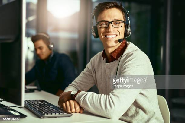 we're on standby and ready to take your call - happy computer headset stock pictures, royalty-free photos & images