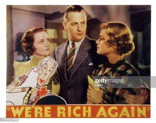 We're Rich Again US lobbycard from left Billie Burke Reginald Denny Joan Marsh Edna May Oliver 1934