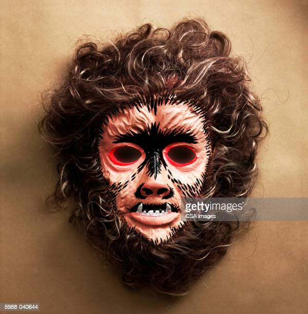 werewolf mask - werewolf stock photos and pictures