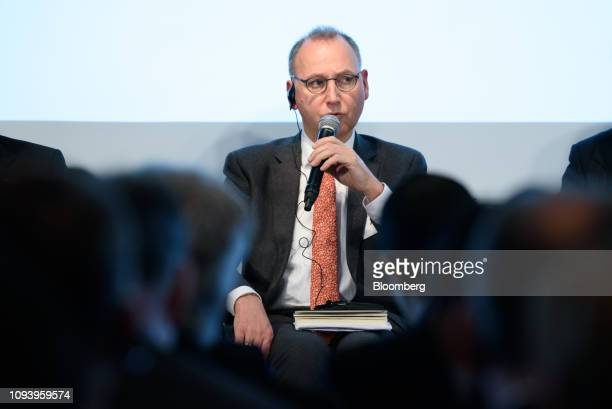 Werner Baumann chief executive officer of Bayer AG speaks during the GermanJapanese Dialogue Forum in Tokyo Japan on Tuesday Feb 5 2019 Angela Merkel...