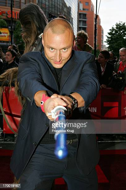 Werner Daehn With Lightsaber In The Germany premiere of Star Wars Episode Iii Revenge of the Sith the theater at Potsdamer Platz in Berlin