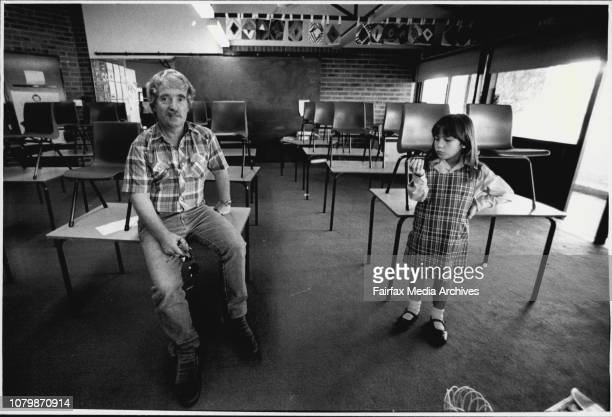Werner Diesel who is head of the School Security CommissionWerner Diesel with his daughter Monica at the Mathew Pierce Public School June 9 1987