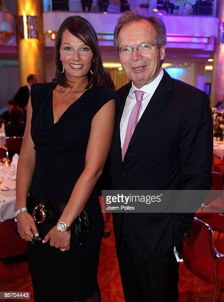Werner E Klatten and Franziska van Almsick are seen prior to the Herbert Award 2009 Gala at the Elysee Hotel on March 30 2009 in Hamburg Germany
