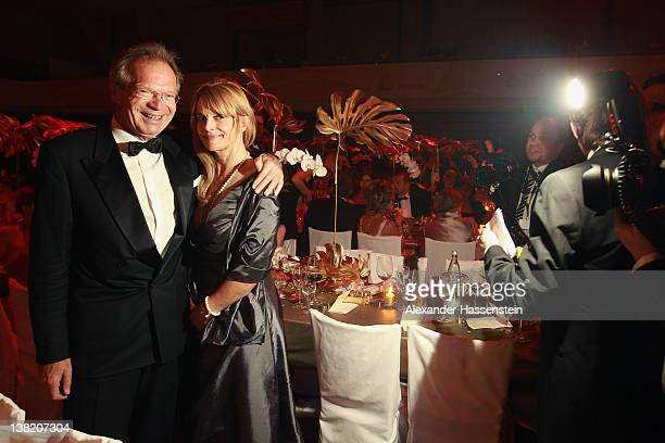 Werner E Klatten CEO of Deutsche Sporthilfe attends with Nastassja Kinski the 2012 Sports Gala 'Ball des Sports' at the RheinMain Hall on February 4...