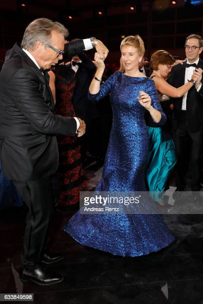 Werner E Klatten dances with Susanne Klatten during the German Sports Gala 'Ball des Sports 2017' on February 4 2017 in Wiesbaden Germany