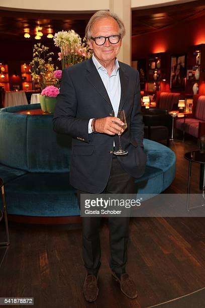 Werner E Klatten during the presentation of the book 'Zu Gast in Griechenland Rezepte Kueche Kultur' at 'The Charles' Hotel on June 20 2016 in Munich...