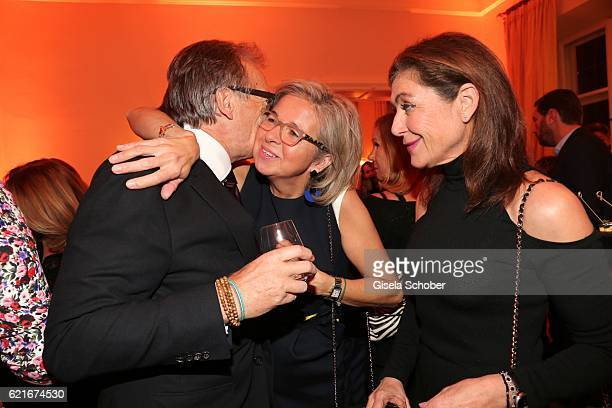 Werner E Klatten Inga GrieseSchwenkow and Alexandra von Rehlingen during the birthday party for the 10th anniversary of ICON at Nymphenburg Palais No...