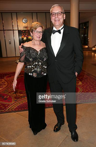 Werner Gegenbauer president of Hertha BSC and his wife Ellen Gegenbauer during the Semper Opera Ball 2016 reception at Taschenbergpalais Kempinski on...