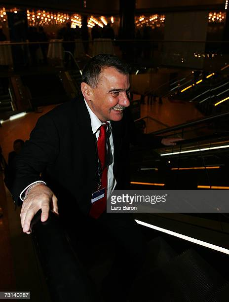 Werner Hackmann, the chairman of the Germann Football League is seen during the second day of the 2007 UEFA Congress at the Congress Center on...